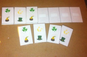 How to Make Pattern Strips - St. Patrick's Day pattern