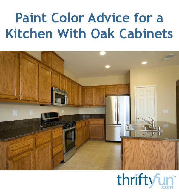 Kitchen Oak Cabinets Wall Color: Paint Color Advice For A Kitchen With Oak Cabinets