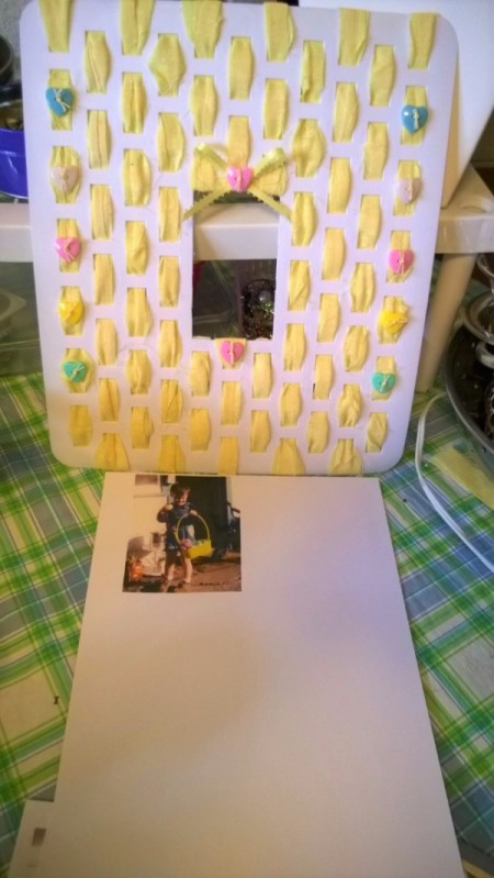 Sink Mat to Photo Frame - sew on buttons