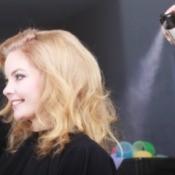 Spraying Hairspray