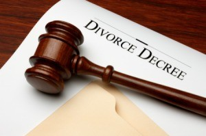 Divorce decree document.