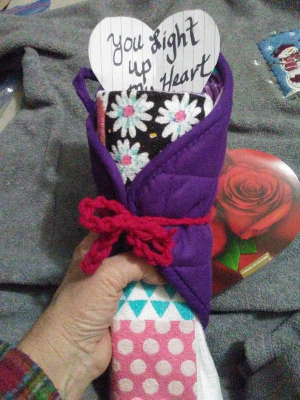 You Light Up My Heart Solar Valentine Gift