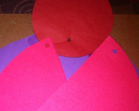 Love Bugs Kids' Craft - attach red circle to to top of purple circle and cut pink circle in half and punch holes