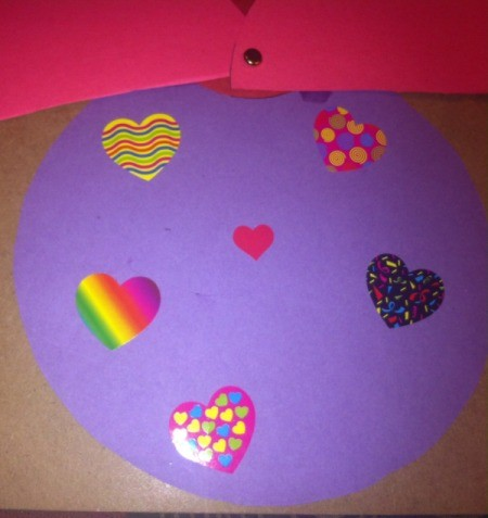 Love Bugs Kids' Craft - open wings in decorate body with stickers