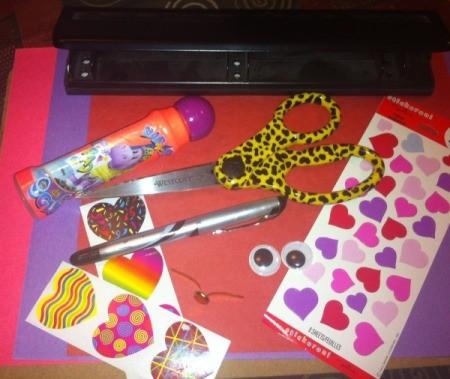 Love Bugs Kids' Craft - supplies