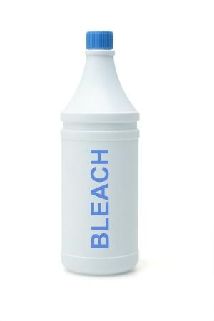 A bottle of bleach.