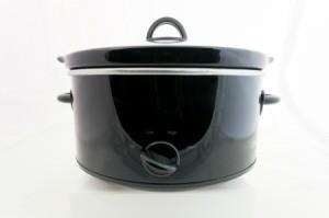 Black slow cooker.