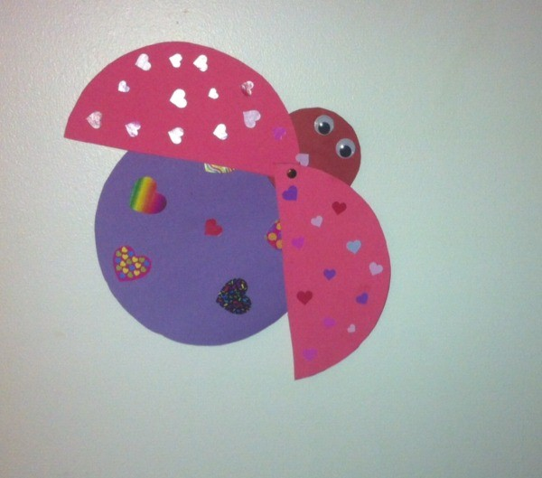 Love Bugs Kids Craft Finished Open Wing Love Bug