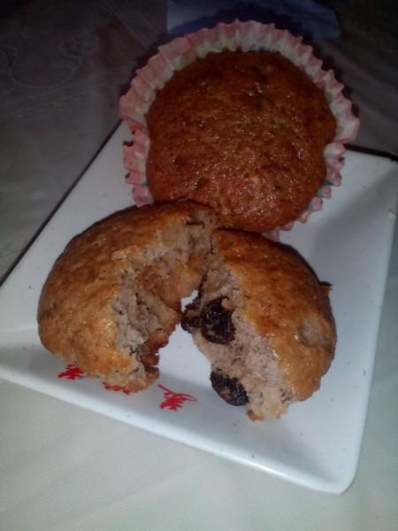 Banana Raisin Cupcakes on plate