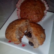 Banana Raisin Cupcakes on plate