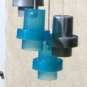 Recycled Detergent Cap Wind Clackers
