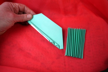 Pleated Paper Butterfly - then fold the other