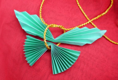 Pleated Paper Butterfly - tie pieces together