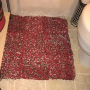 Crocheted Bathroom Rug