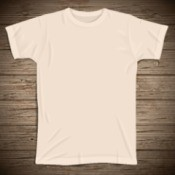 yellowed white t-shirt