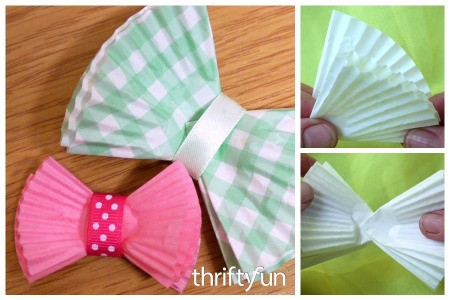 Making Muffin Liner Gift Bows