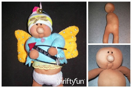 Recycle Nylons to Make a Soft Sculpture Cupid Doll