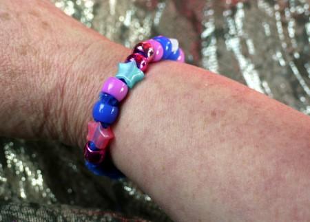 Pipe Cleaner Bracelets - finished bracelet