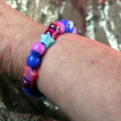 Pipe Cleaner Bracelets - finished bracelet