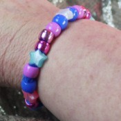 Pipe Cleaner Bracelets - woman wearing bracelet