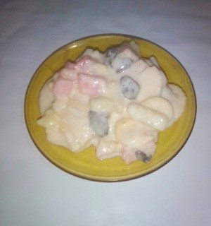 Tropical Fruit Dessert in bowl