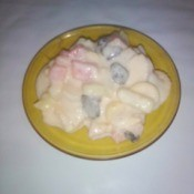 Tropical Fruit Dessert in bowl