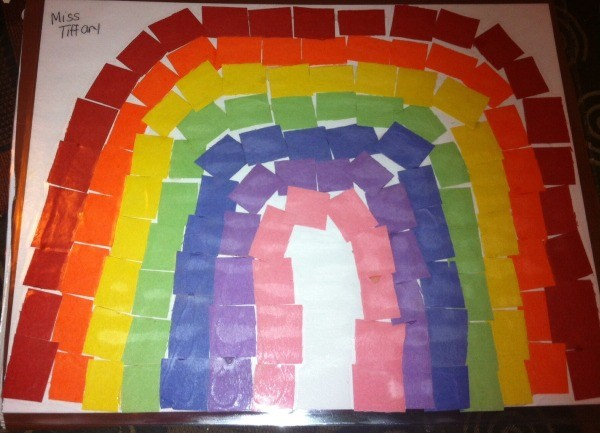 How To Make A Paper Rainbow Mosaic Thriftyfun