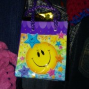 Using a balloon weight bag as gift bag