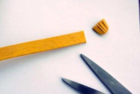 Popsicle Stick Toy Harmonica - splintered piece