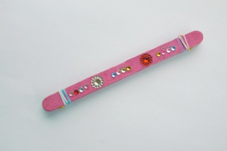 Popsicle Stick Toy Harmonica - decorate with sticky back jewels if desired