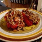 Stuffed Red Peppers on plate