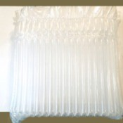 Use For Inflated Plastic Packing Material