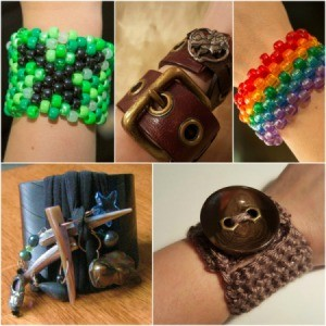 5 different cuff bracelet pictures.