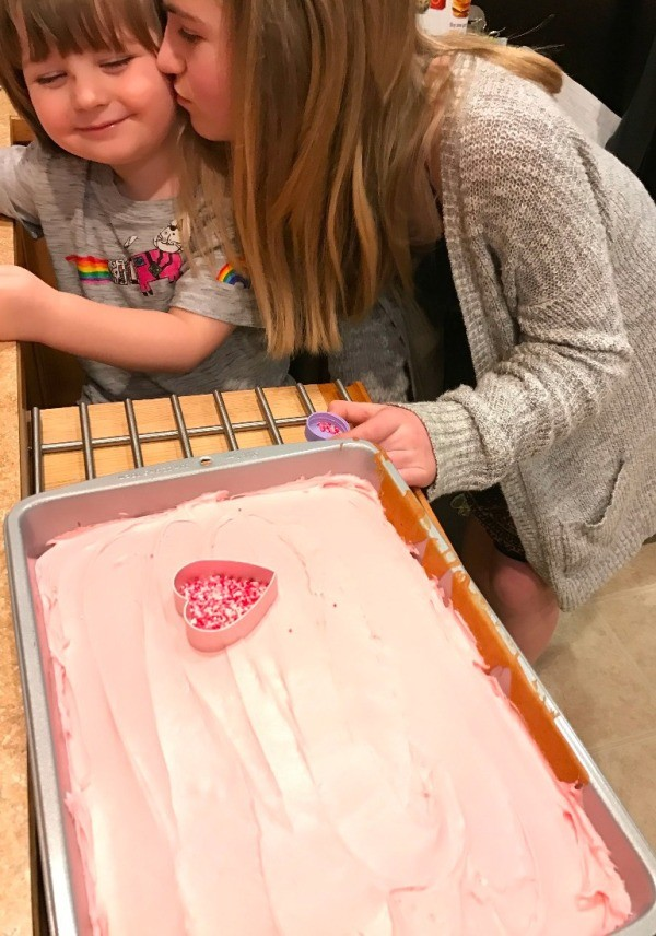 Sprinkle Hearts on a Cake