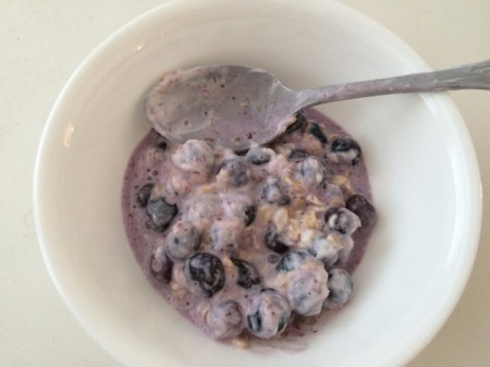 Berry Overnight Oats in bowl