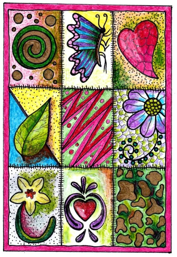 Colorful Birthday Card Coloring Page Thriftyfun