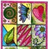 Colorful Birthday Card Coloring Page - colored page