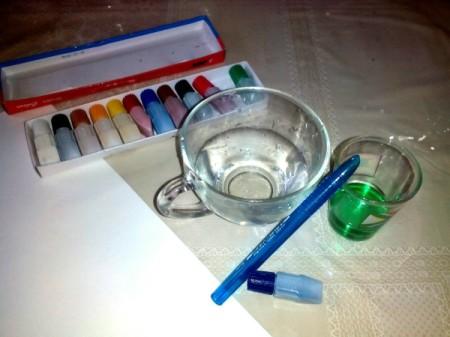 DIY Bubble Art Invitation - supplies