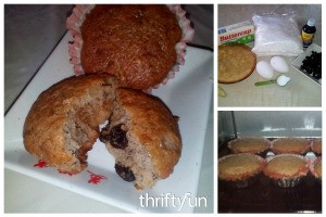 Banana Raisin Cupcake Recipe
