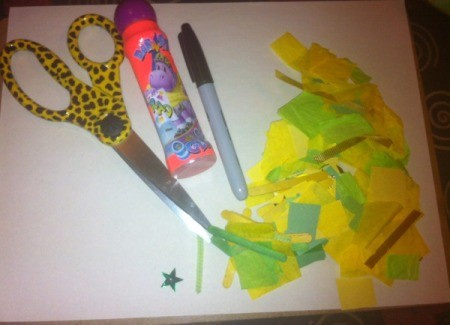 Four-Leaf Clover Collage - supplies