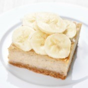 A banana cream pie bar.