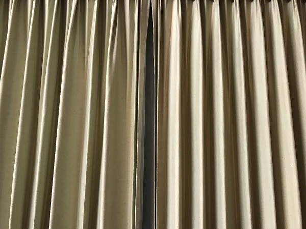 Clip Curtains Closed - curtain with a narrow gap
