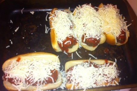 cheese added to meatball subs