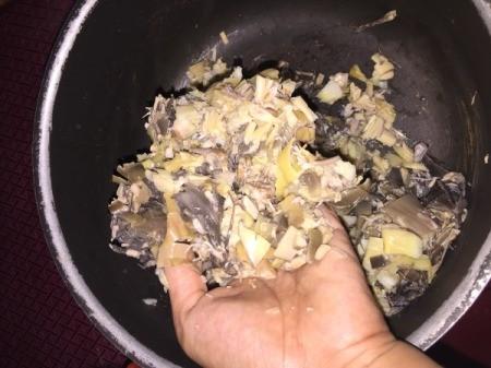 adding onion and garlic to bowl
