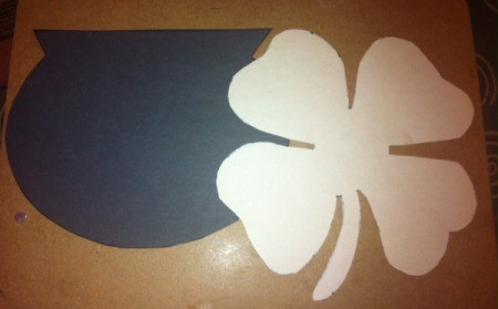 Hole-Punch St. Patrick's Day Art - draw your pot and clover on paper and cut out