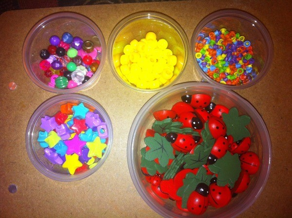 How to Sort and Organize Craft Beads - round containers of beads