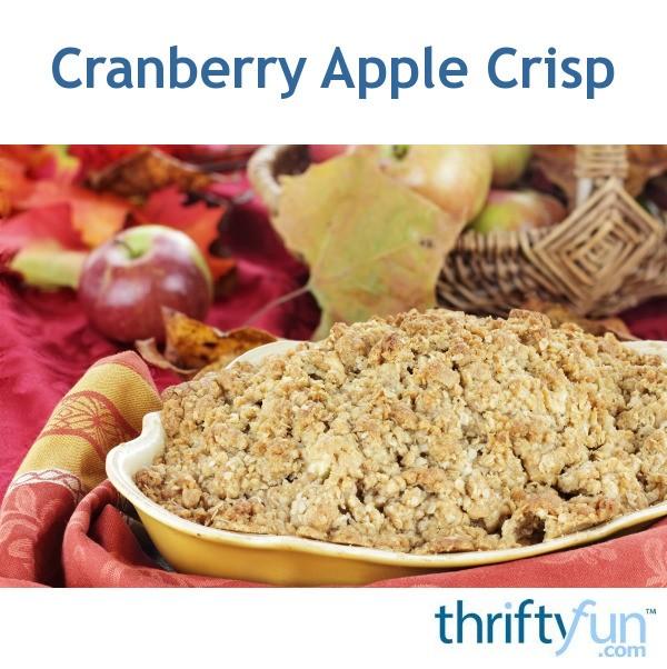 Cranberry Apple Crisp | ThriftyFun