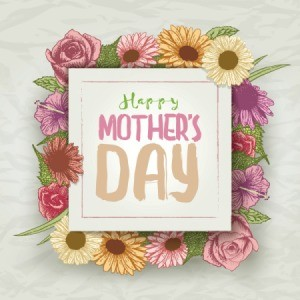 Sign saying Happy Mother's Day.