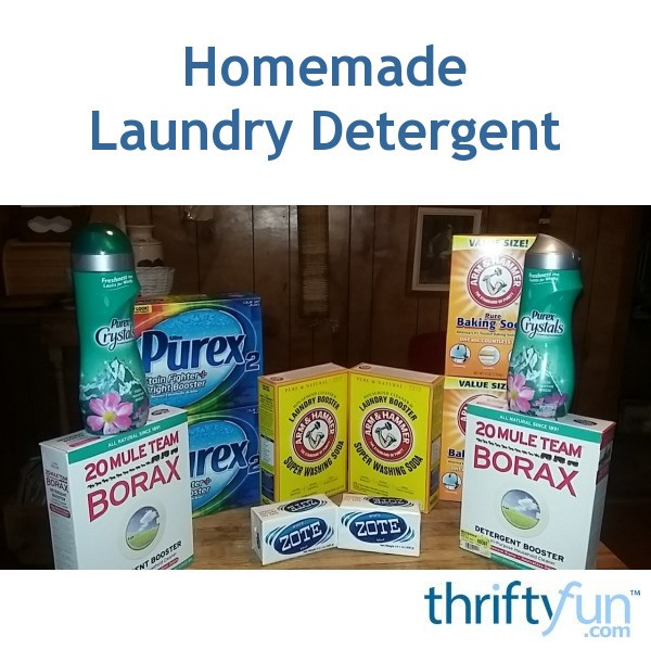 Homemade Laundry Detergent Recipe