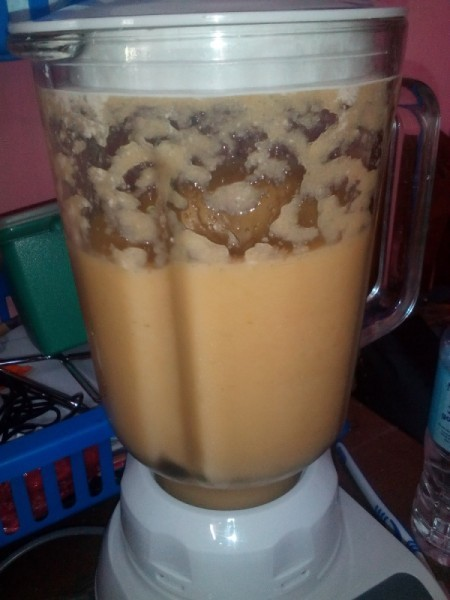 blended ice in smoothie